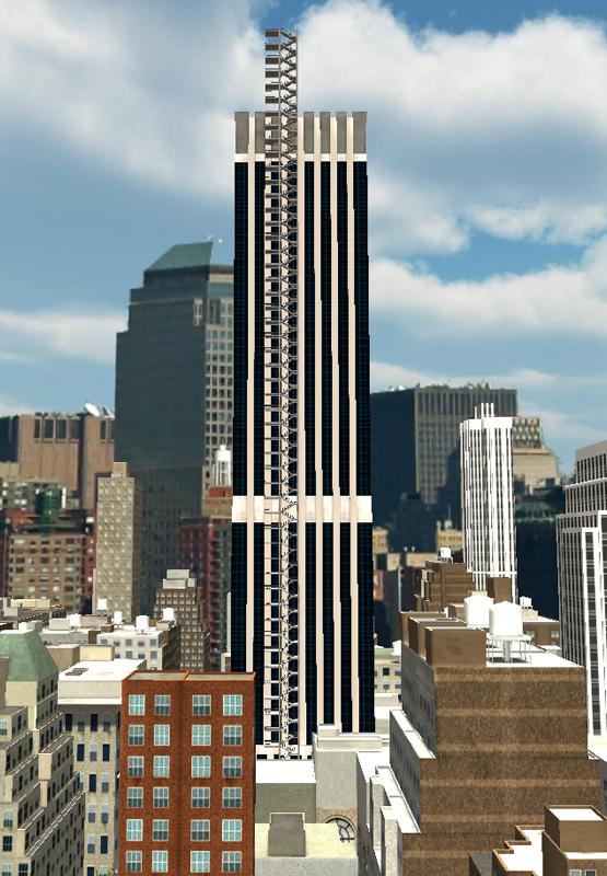 building avec escalier et etages vue large