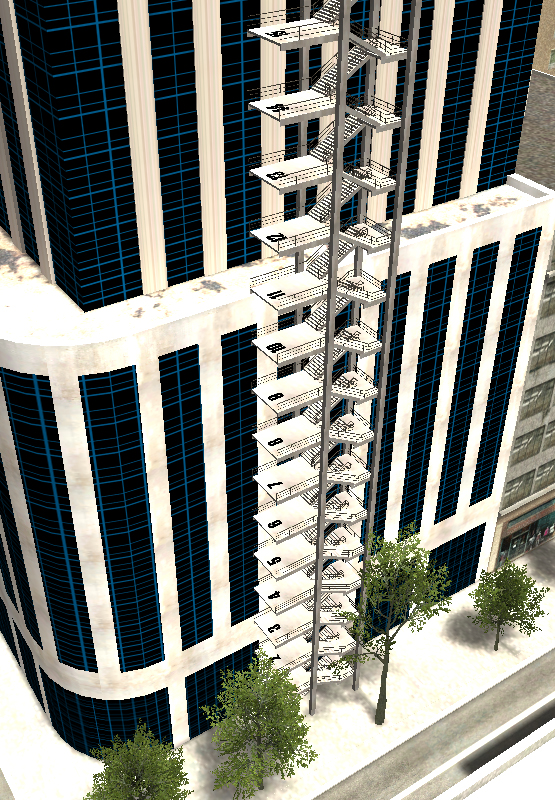 building avec escalier et etages