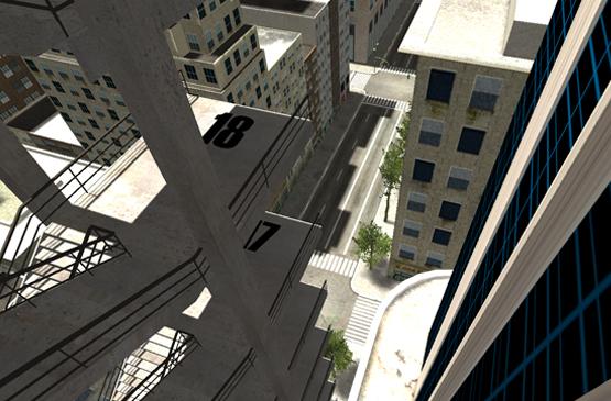 escalier a cote building hauteur