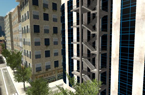 escalier pour vertige building